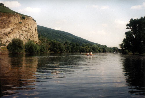 The Morava River  and the Sandberg