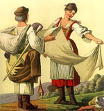 Illustrations from the book Kroje (Slovak Folk Costumes)