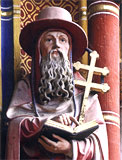 Statue of a cleric - Church od St. Ladislav in Spisky Stvrtok - from the book 55 najkraj��ch gotick�ch pamiatok Slovenska