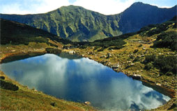 Tretie Rohacske pleso lake in the Zapadne Tatry Mts. - from the book National Parks (Natural Heritage of Slovakia)