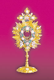 Monstrance, dated  1754  - from the Exposition Ars Liturgica, the Slovak National Museum