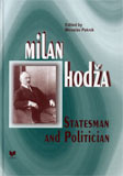 Milan Hod�a -  Statesman and Politician - Cover Page