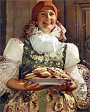 Young Girl in Folk Costume - from the book Straznice
