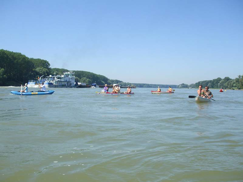 Rafting on the Danube River