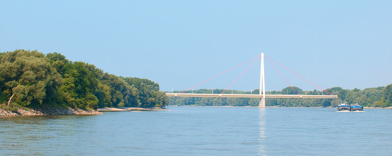 2b1f68b8d The Danube Report: With Twin City Liner from Bratislava to Vienna and Back.  The Bridge near Hainburg.