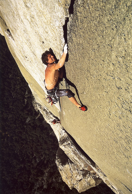 Yosemite: Dean Potter at Boot Flake, Nose - El Capitane