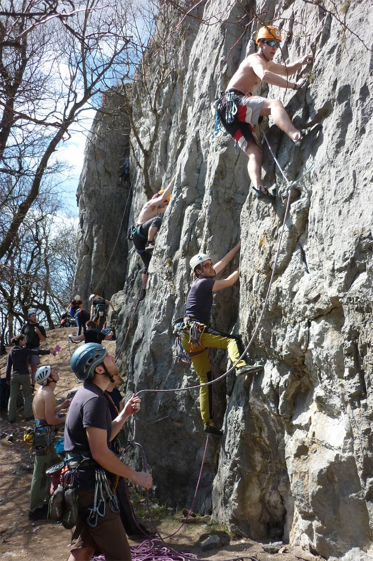 Climbing at Pajstun