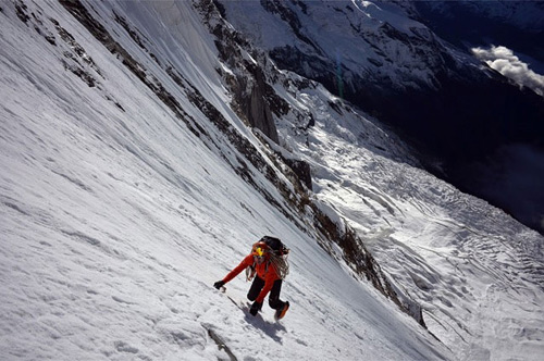 Ueli Steck at the Annapurna South Face