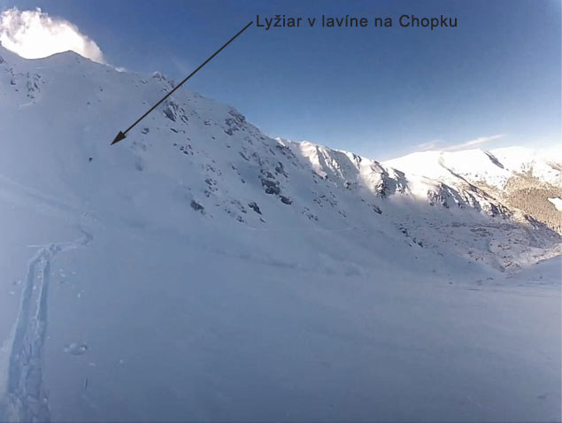 Avalanche at Chopok Peak  - February 10, 2014