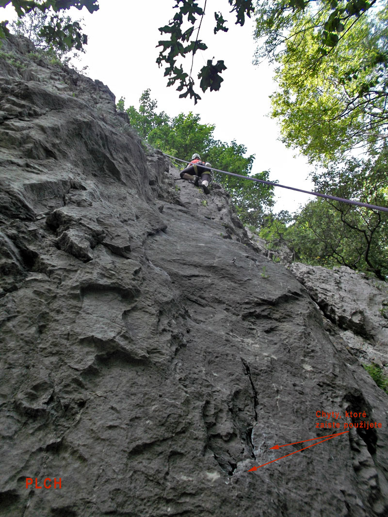 Plch and  Posledna climbing routes - Pajstun, Male Karpaty