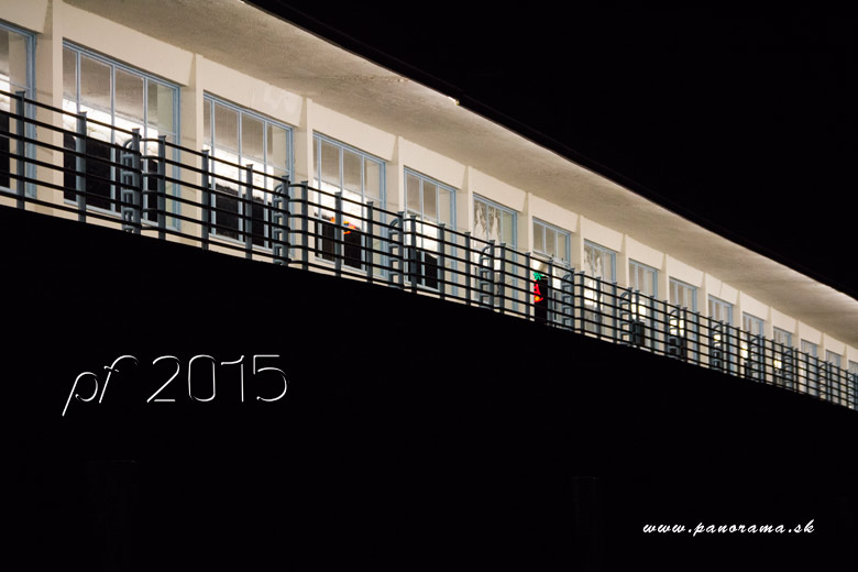 New Year Card - Kolonadovy Most Bridge in Piestany