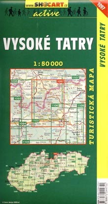 Vysoke Tatry - tourist map - cover page