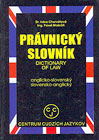 Pravnicky slovnik - Dictionary of Law - Cover Page