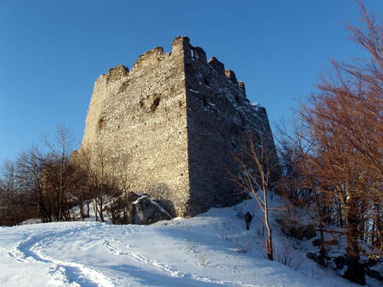 Tematin Castle Ruins in Winter 2005