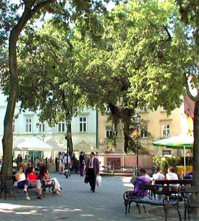 The Frantiskanske Namestie Square -From  DVD Bratislava - Beauty on the Danube River