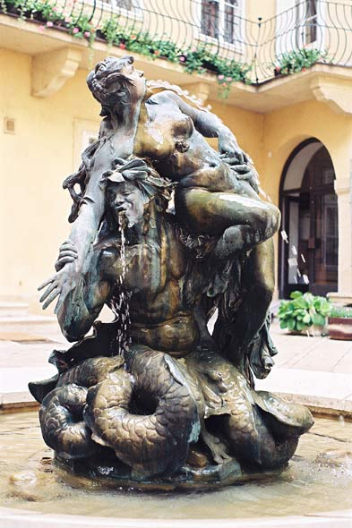 Fountain Triton and Nymph