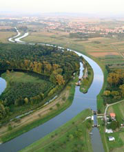 Crossroad - the Morava River and Bata Channel