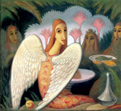 Jan Zrzavy: Guests of Abraham -  Visit of Angels, 1911-1912