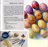 Kraslice - zdobenie voskom - a sample from the brochure
