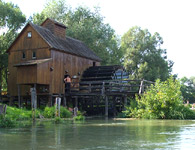 Jelka water mill - the Maly Dunaj River