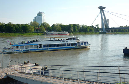The Martin boat in Bratisva on the Danube River