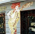 Antique shop facade close to Reduta in Bratislava. By Fero Guldan.
