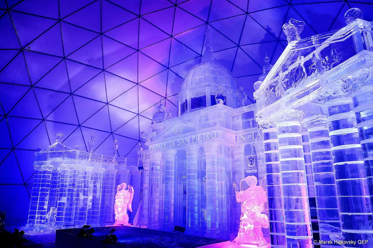 Tatra Ice Temple for winter season 2018/2019 is inspired <nobr>by St. Peter`s</nobr> Basilica