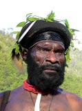 Native Man from the Damal Tribe