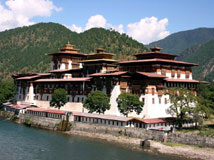 The Buddhist Monastery Punakha - from the movie Bhutan - A Search for Hapiness