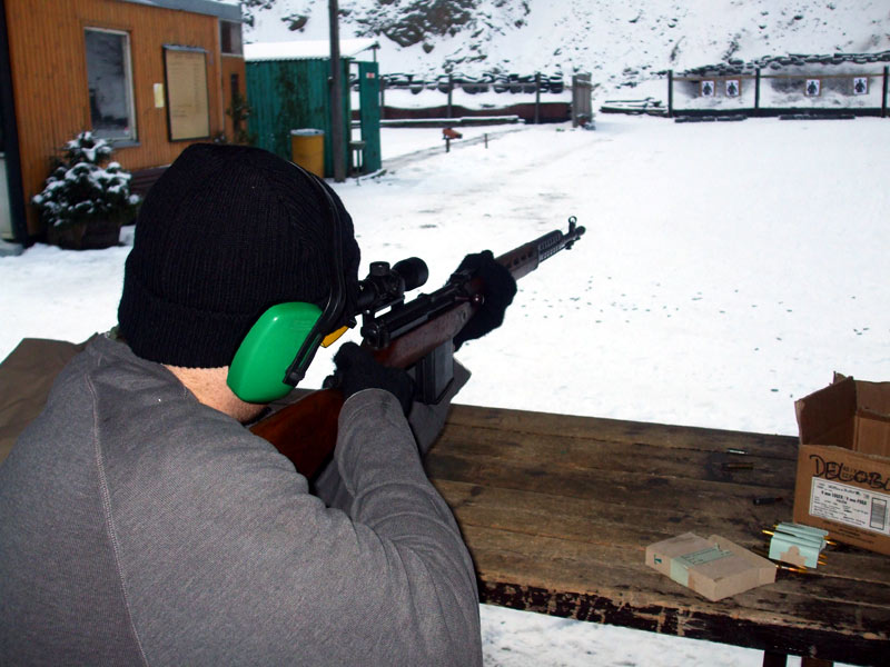 Target shooting with a sniper rifle