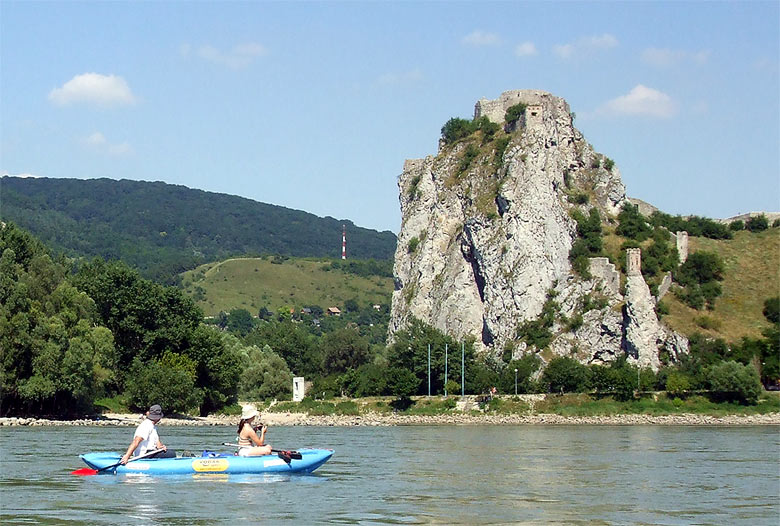 Canoe Trip on the Danube River: Hainburg - Devin - Bratislava