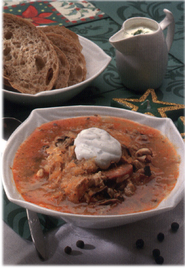 Traditional Slovak Christmas Soup - from the book Velka kniha slovenskych Vianoc